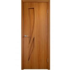 Дверь Стрелитция ДГ 70*200 ламинир.мил.орех 06