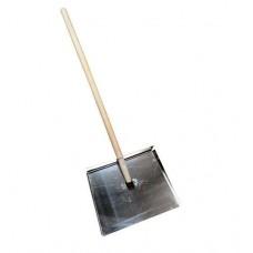 Лопата снеговая металлическая 425х460х1.5мм трехбортная 229685