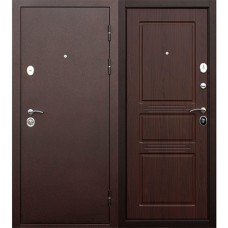 Дверь метал.Антик медь,ит. орех 2 замка 2050х 860L