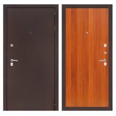 Дверь метал.Антик медь,итал.. орех 2 замка 2050х 960R