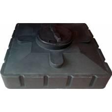 Бак для душа (черный) 120л 950х950х305