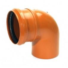 Отвод ф 110 90* наруж.рыжее РТП (колено)