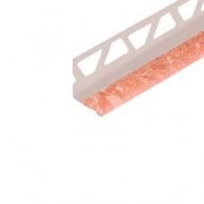 Уголок п/плитку 8мм 2,5м внутр Мрамор розовый