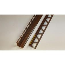 Уголок п/плитку 8мм 2,5м внутр Шоколадный