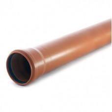Труба ф110 1,0м РТП наруж.,рыжая (224580)