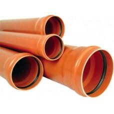 Труба ф110 2,0м РТП наруж.,рыжая (224581)