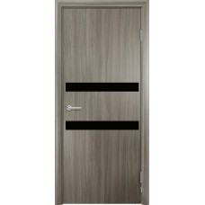 Дверь G01 Черное стекло ДО 60 Дуб дымчатый