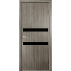 Дверь G01 Черное стекло ДО 70 Дуб дымчатый  (22158)