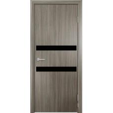 Дверь G01 Черное стекло ДО 80 Дуб дымчатый