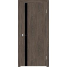 Дверь G7 Черное стекло ДО 60 Дуб корица  (33317)