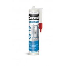 Герметик CERESIT силикон санитарный CS15 белый 280мл (46510)