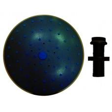 Душ верхний д/душ.кабин без подсветки 150мм круглый, черный пластик ERLIT 0911015001 (31509)