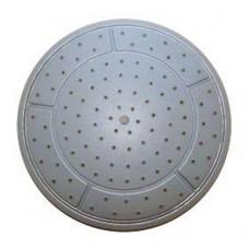 Душ верхний д/душ.кабин без подсветки 240мм круглый, белый пластик ERLIT (0911025003) (32340)
