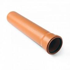 Труба ф110 0,5м Политрон наруж.,рыжая (1100500)