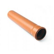Труба ф110 2,0м Политрон наруж.,рыжая (1102000)