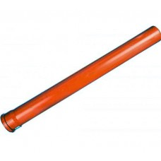 Труба ф110 1,0м Политрон наруж.,рыжая (1101000)