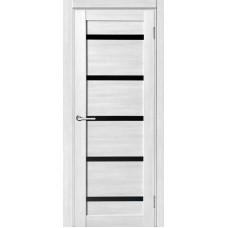 Дверь ПВХ VDM-01 80см Капучино Лакобель черное