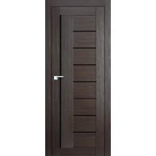 Дверь ПВХ VDM-02 80см Венге Лакобель черное