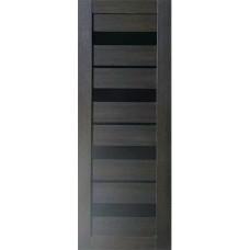 Дверь ПВХ VDM-04 80см Венге Лакобель черное