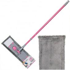 Швабра HD1009 плоская 43х14см розовая дымка C-mic-15-1912 (322163)