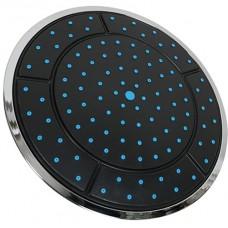 Душ верхний д/душ.кабин без подсветки 240мм круглый, черный пластик ERLIT (0911015092)