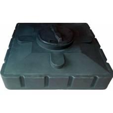 Бак для душа (черный) 240л 1100х1100х380