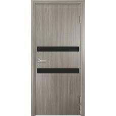 Дверь G01 Черное стекло ДО 90  Дуб дымчатый  (23021)