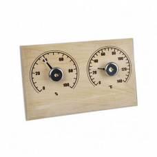 Банная Станция открытая (термометр+гигрометр) прямоугольная СБО-2тг