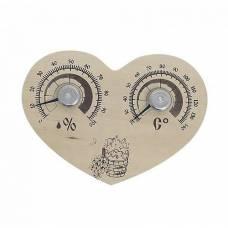Банная Станция открытая (термометр+гигрометр) сердце СБО-3тг