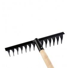 Грабли 14-ти зубые витые, дер.черенок (212502)