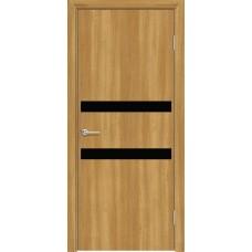 Дверь G08 Черное Лакобель ДО 70 Лиственница Золотистая  (56969)