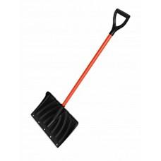 Лопата снеговая пластм.с алюм.накл., мет.чер V-ручка
