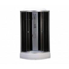 Душ.кабинHD-KU9090L B2 LOW 90*90*215 без г/м черные задние стекла  ,низкий поддон14 см,,108185