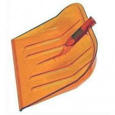 Лопата снеговая б/чер пластм.512*380мм поликарбонат оранж 321715
